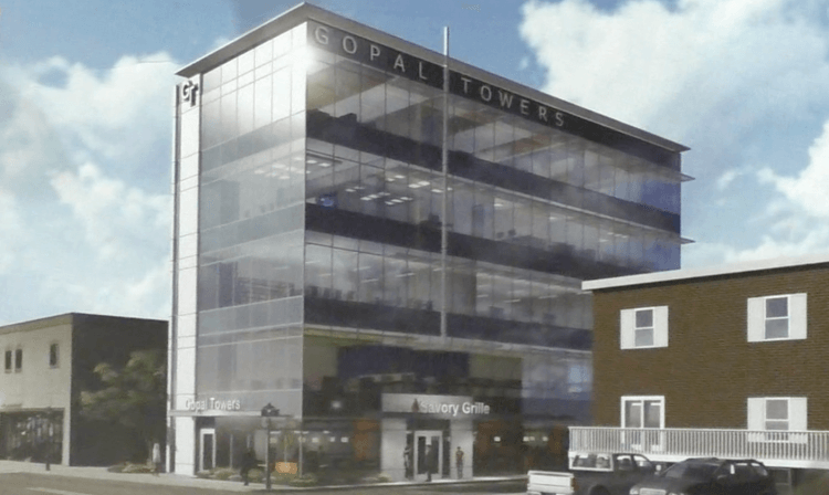 An artist's rendering of an office building proposed for Washington Avenue in Bridgeville, Pennsylvania