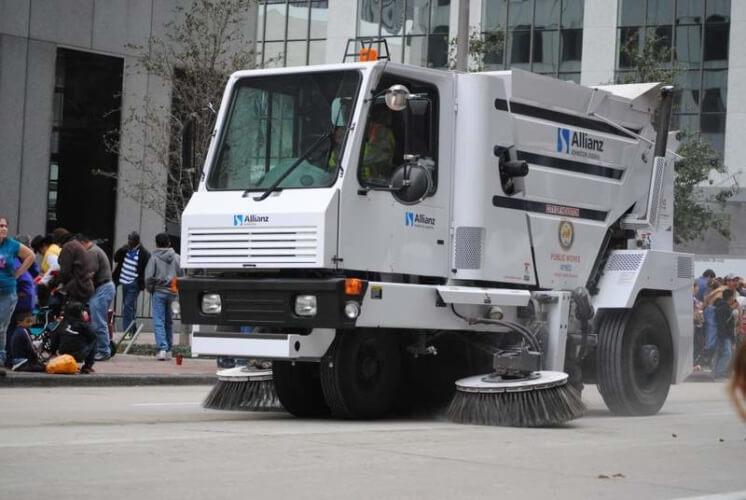Photo of a Texas street sweeping vehicle