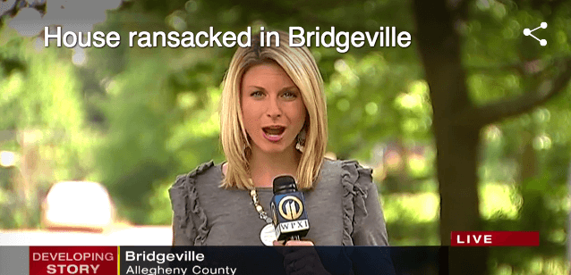 Tomazic Live on Scene in Bridgeville