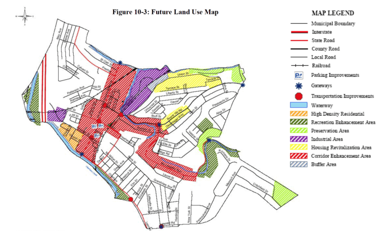 Bridgeville's future land use map an envisioned in the 2005 comprehensive plan.