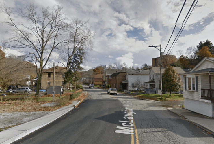 A Google Street View image of McLaughlin Run Road in Bridgeville, PA