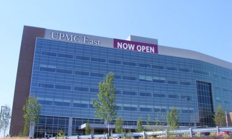 The UPMC East hospital in Monroeville