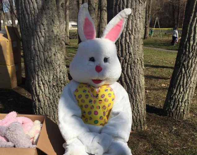 The Easter Bunny at the 2017 Bridgeville Easter Egg Hunt.