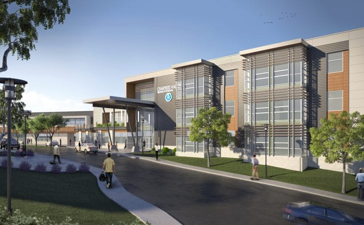 Artist rendering of Chartiers Valley Middle School. Photo via Chartiers Valley School District.