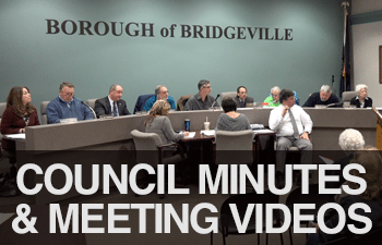 bridgeville borough council minutes and meeting videos