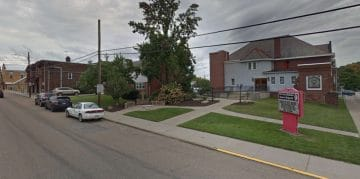 A Google Maps view of the curb in front of First United Methodist Church where the Bridgeville Parking Authority hoped to add paid, on-street parking.