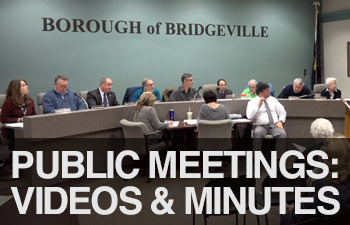 bridgeville public meetings: videos and minutes
